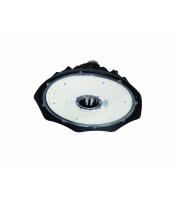 Robus SONIC4 100W LED HIGHBAY, IP20,130Lm/W,1-10V dim,5000K + PIR / MW + Remote Em on 0.5M Flex (15M Max (Black)