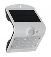 Robus SOL 1.5W Solar LED Wall light with PIR IP65 White 4000K (White)