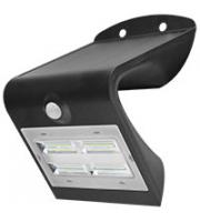 Robus SOL 3.2W Solar LED Wall light with PIR IP65 Black 4000K  (Black)