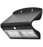 Robus SOL 6.8W Solar LED Wall light with PIR IP65 Black 4000K (Black)