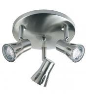 Saxby Lighting Krius Triple Ceiling Spotlight (Satin Chrome)
