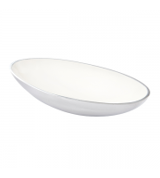 Endon Home Chappell Large Bowl (Polished Aluminium/White)