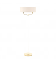 Saxby Lighting Nixon 2lt Floor Lamp (Brass)