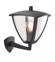 Saxby Lighting Seraph IP44 Outdoor Wall Lantern (Textured Grey)