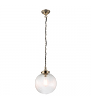 Endon Lighting Brydon 1lt Pendant (Clear Ribbed Glass) SALE ITEM