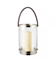 Endon Home Chandler Lantern (Clear Ribbed Glass)