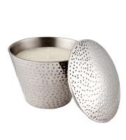 Endon Home Clevedon Vanilla Scented Candle (Polished Aluminium)