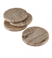 Endon Home Askew Set of 4 Coasters (Natural Marble)