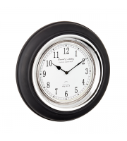 Endon Home Boyd Wall Clock (Black Wood)
