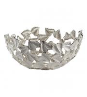 Endon Home Ives Leaf Pattern Bowl (Brushed Nickel)