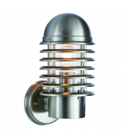 Saxby Lighting Louvre 1lt wall IP44 60W (Stainless)