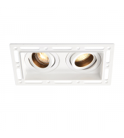 Saxby Lighting Trimless Downlight twin 50W (White)