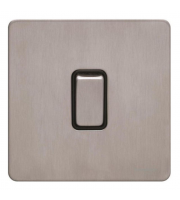 Schneider Electric Screwless Flat Plate 1G 2 Way Switch (Stainless Steel)
