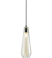 Endon Gibson Single Cognac Glass Ceiling Pendant Light (Glass)