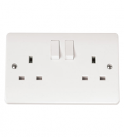 Click Scolmore 13A 2 Gang Dp Switched Socket