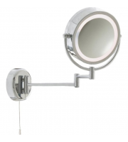 Searchlight Bathroom Mirror - Illuminated Mirror - Chrome Extendable Swing Arm