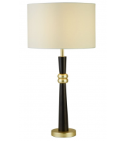 Searchlight Sylvian 1LT Table Lamp Dark Wood And Gold SALE ITEM