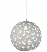 Searchlight 1 Light Large Pendant (40cm Dia), Sand White Metal