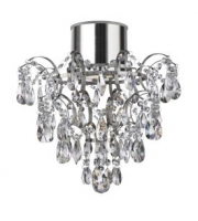 Searchlight IP44 Chandelier With Crystal Droplets