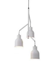 Searchlight 3 Light Ceiling Multi-drop, Sanded White