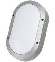 Timeguard 10W LED Oval Energy Saver Bulkhead (Silver)