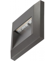 Timeguard 1.1W Square Step Light (Dark Grey)