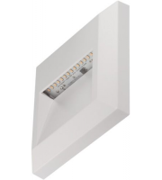 Timeguard 1.1W Square Step Light (White)
