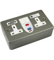 Timeguard Valiance Rcd Twin Metal Socket - Active Grey