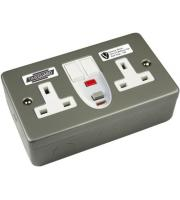 Timeguard Valiance Rcd Twin Metal Socket - Passive Grey