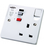 Timeguard Rcd Single White Latching Socket