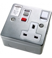 Timeguard Rcd Single Metal Latching Socket
