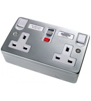 Timeguard Rcd Double Metal Latching Socket