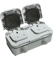 Timeguard Outdoor Twin Gang Socket