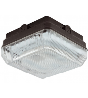 Ansell Astro 28W CFL IP65 Emergency Bulkhead with Photocell (Black)