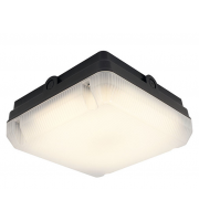 Ansell 8W Astro LED Square Bulkhead (Black)