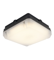 Ansell Astro 14W IP65 Emergency LED Bulkhead (Black)