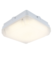 Ansell Astro 14W IP65 LED Bulkhead with Emergency & Photocell (White)