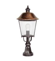 Ansell Augusta 100W IP44 E27 Pillar Lantern (Black Silver)