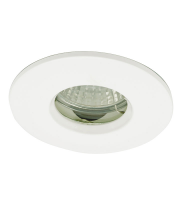 Ansell IP65 MR16/GU10 Die Cast Bathroom Downlight (White)