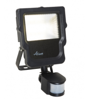 Ansell 10W Carina 4000K Polycarbonate LED Floodlight with PIR (Cool white)
