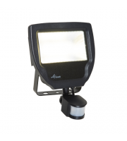 Ansell Carina 50W Polycarbonate LED Floodlight with PIR (Black)