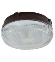 Ansell Delta CFL 16W Electronic Photocell Bulkhead (Black/Prismatic)