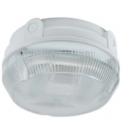 Ansell Delta 28W Cfl Emergency Bulkhead (Black/Prismatic)