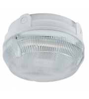Ansell Delta 28W Cfl Emergency Electronic Photocell Bulkhead (White/Opal)