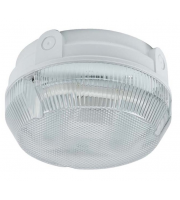Ansell Delta 28W CFL Electronic Photocell Bulkhead (White/Opal)