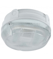 Ansell Delta 28W Cfl Emergency Electronic Photocell Bulkhead (White/Prismatic)