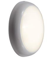 Ansell 14W Disco LED Integral Microwave Sensor  Bulkhead (White/Opal)