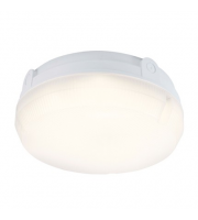 Ansell Delta 14W 4000K LED Round Emergency Bulkhead (White)