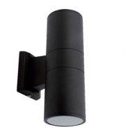 Ansell Duo Midi Bi-directional Wall Light (Black)