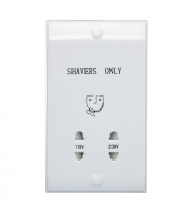 Ansell Dual Voltage Shaver Socket (White)